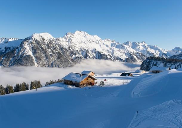Uitzicht op de Alpe in Sonntag-Stein, Klostertal