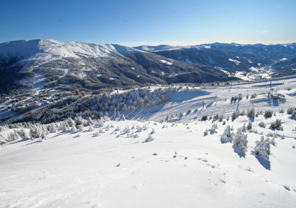 Het skigebied van Katschberg