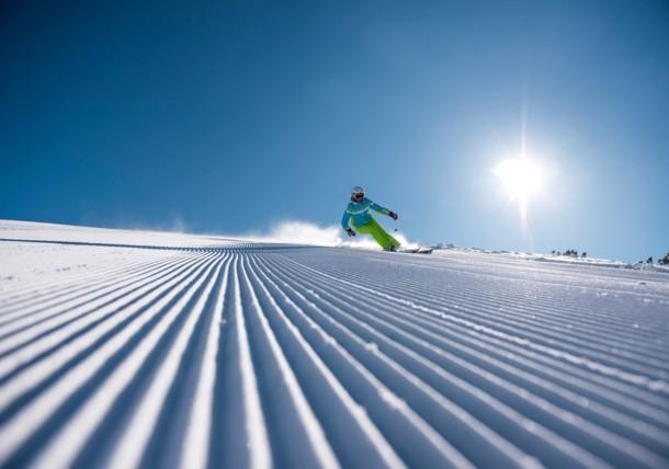 Skiër in Hinterstoder