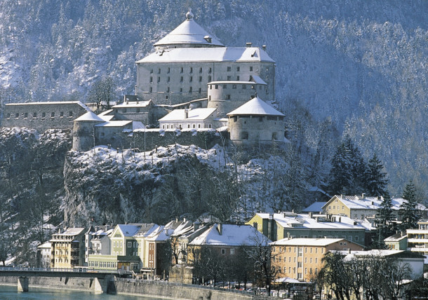 Kufstein and fortress winter landscape