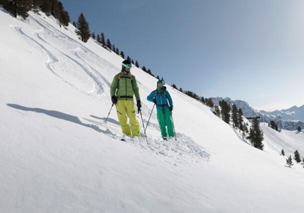 Skiing in the Oetztal Valley in Tirol