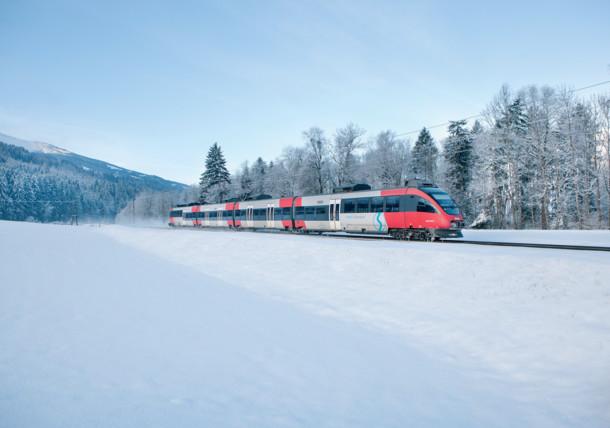 ÖBB RegioBahn im Winter