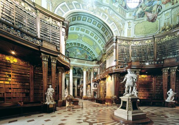 Oostenrijkse nationale bibliotheek in Wenen