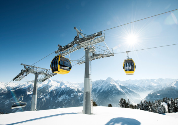 The new ski lift in the Zillertal