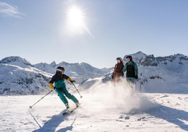 Skifahren im Skigebiet Lech am Arlberg