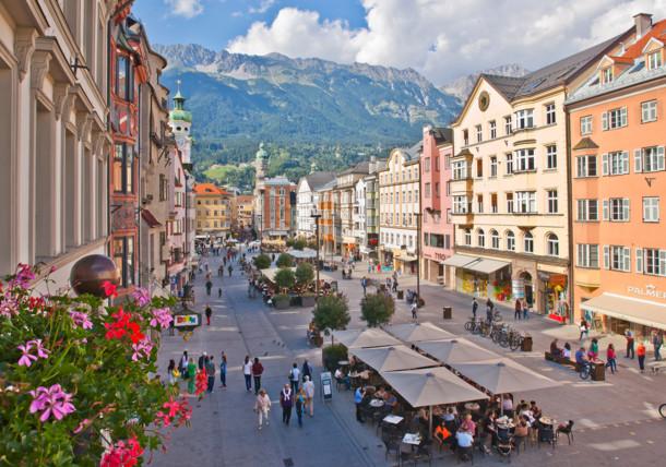 Maria Theresien Straße in Innsbruck
