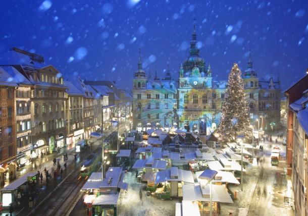 Weihnachtsstimmung am Grazer Hauptplatz