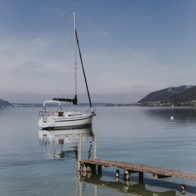Segelboot am Attersee