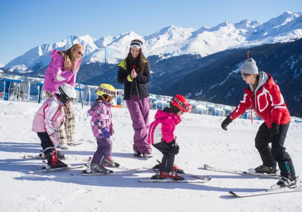 Rodinná dovolená s výukou lyžování v Kapplu