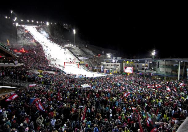 Night race (slalom) in Schladming