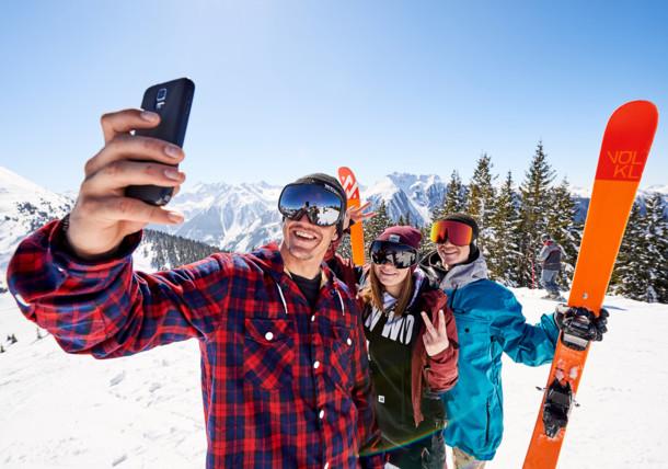 Freeskiing selfie at Ski amadé