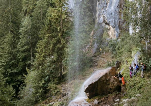 Climbing at Schleier Waterfall