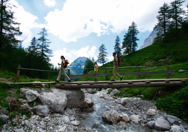 Wanderszene in Österreich