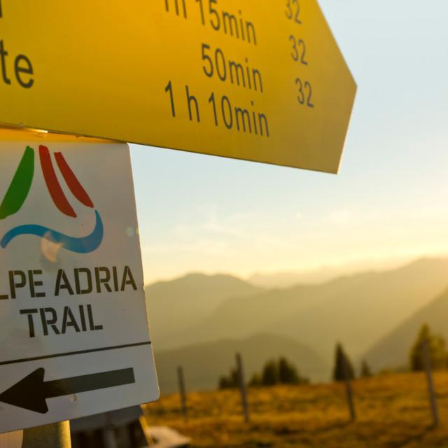 Wegbeschilderung Alpe Adria Trail