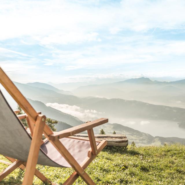 Ruhepause auf dem Alpe-Adria-Trail
