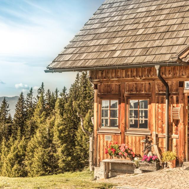 Berghütte auf dem Alpe-Adria-Trail