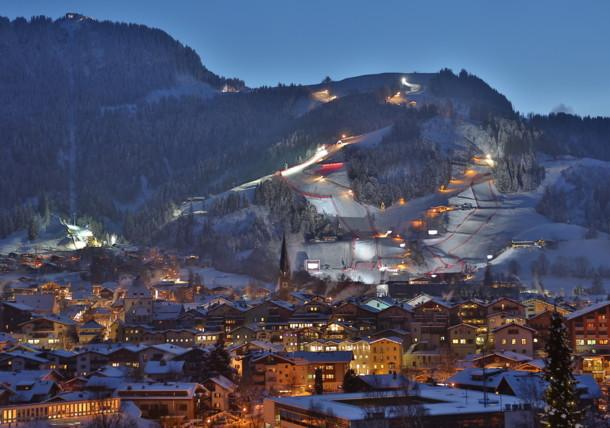 Die Streif in Kitzbühel, Schauplatz des legendären Hahnenkammrennens