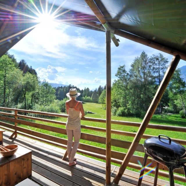 Safari-Lodge-Zelt im Ferienparadies Natterer See in Tirol