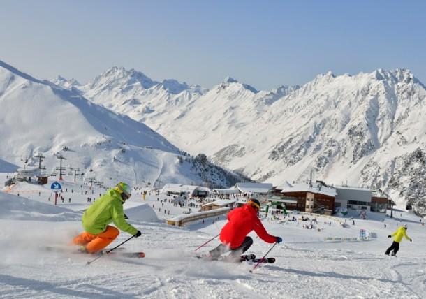 Skiërs in Ischgl