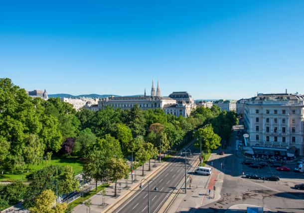 Blick auf die Ringstraße, Wien