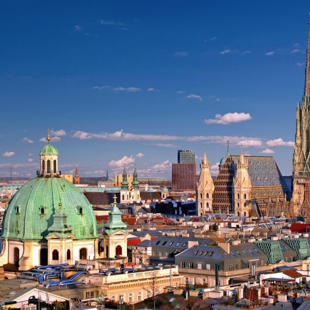 Blick auf den Wiener Stephansdom