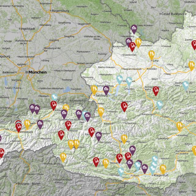 Interaktive Karte Österreich