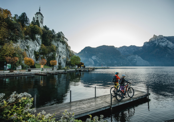 Radpause in Traunkirchen am Traunsee