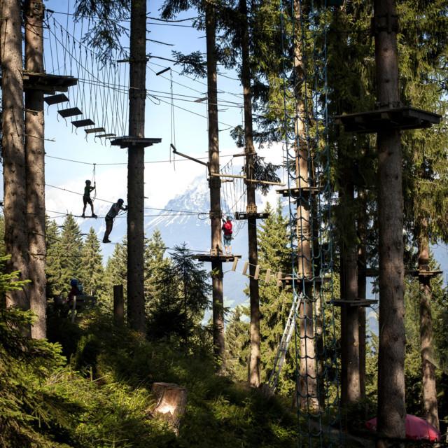 Hornpark Kletterwald in St. Johann in Tirol