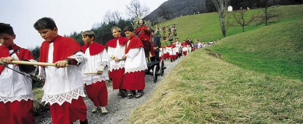 Processione pasquale in Tirolo