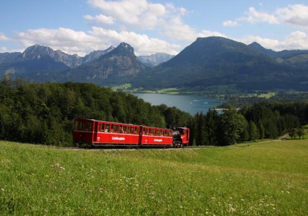 De Schafbergbahn aan de Wolfgangsee