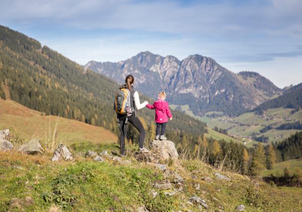 Randonnée en famille dans l'Alpbachtal
