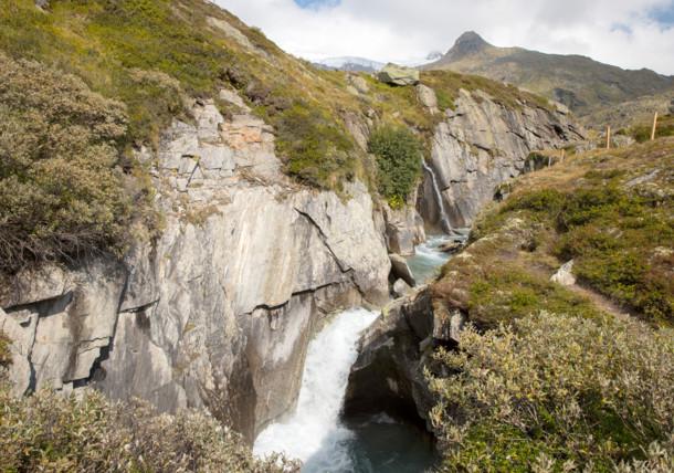 Waterval langs de Venediger Höhenweg, Oost-Tirol