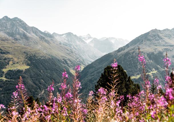 Wandern durch die Berglandschaft im Ötztal