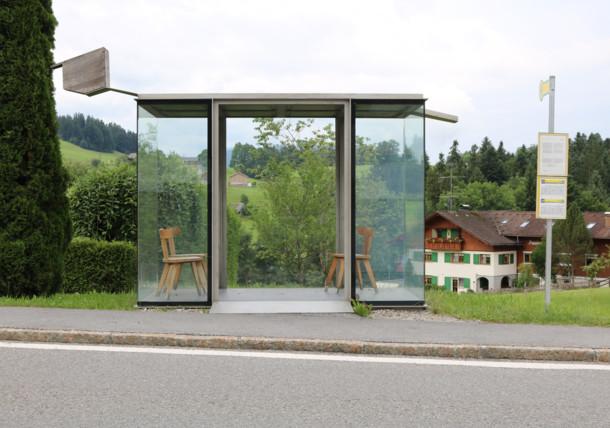 A special busstop in Bregenzerwald