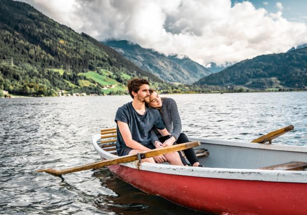 Boating at the Lake Zell