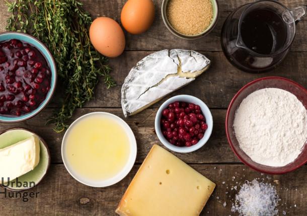 Zutaten für Wilder Preiselbeer-Käse Strudel